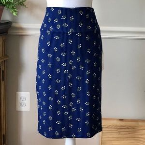 NWY! LuLaRoe Cassie Skirt (BLUE)